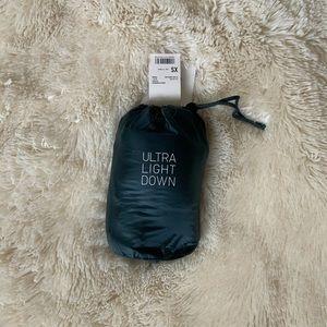 Brand New Uniqlo Ultra Light Down Cyan Vest